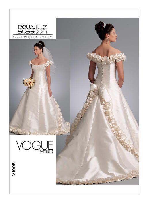 V1095 | Vogue Patterns | Doyla wedding | Pinterest | Vogue patterns ...
