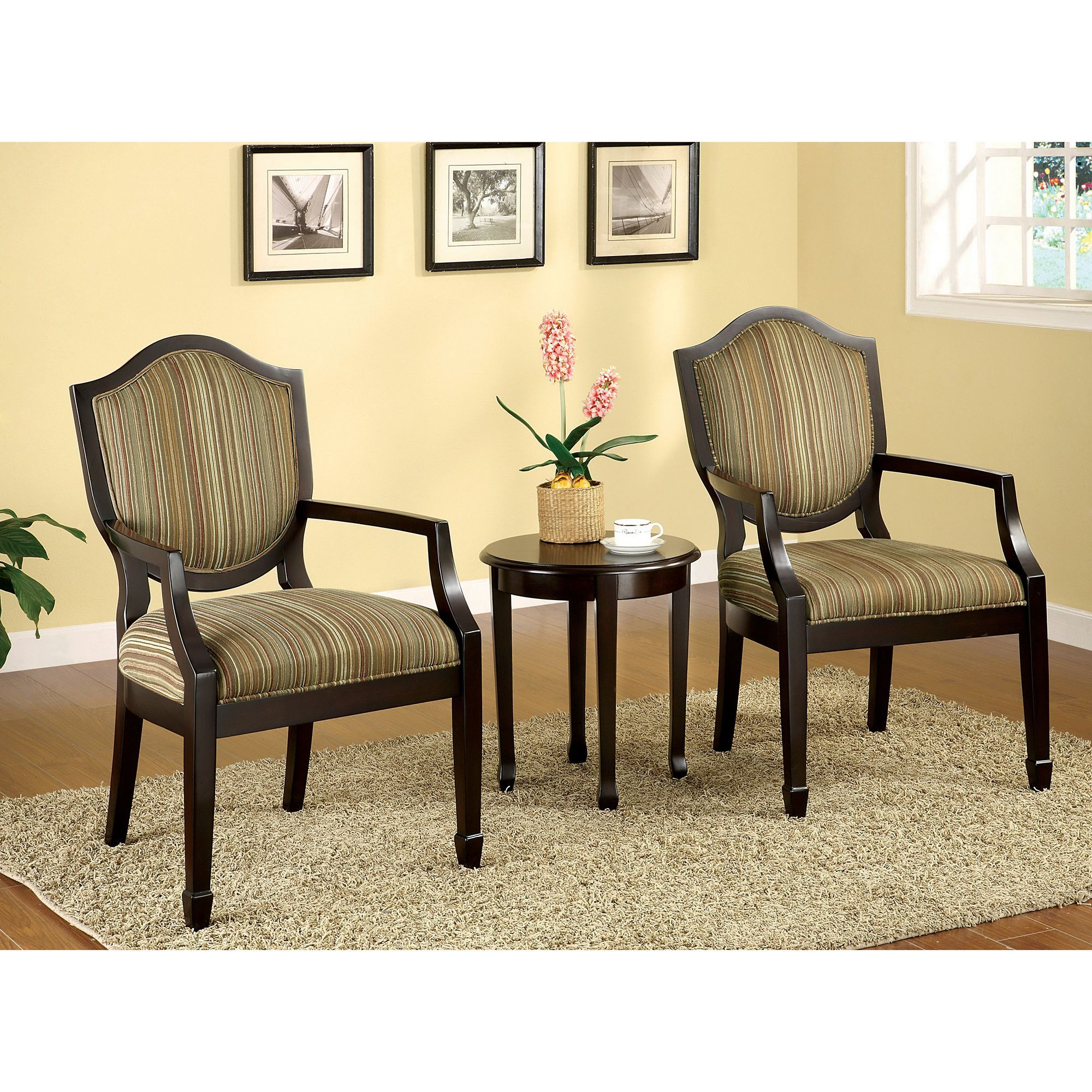 two chair table set