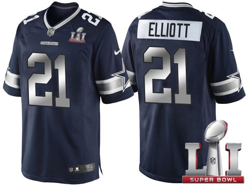 805ef30eb3a NFL Men's Dallas Cowboys #21 Ezekiel Elliott Blue Jersey Football Jerseys