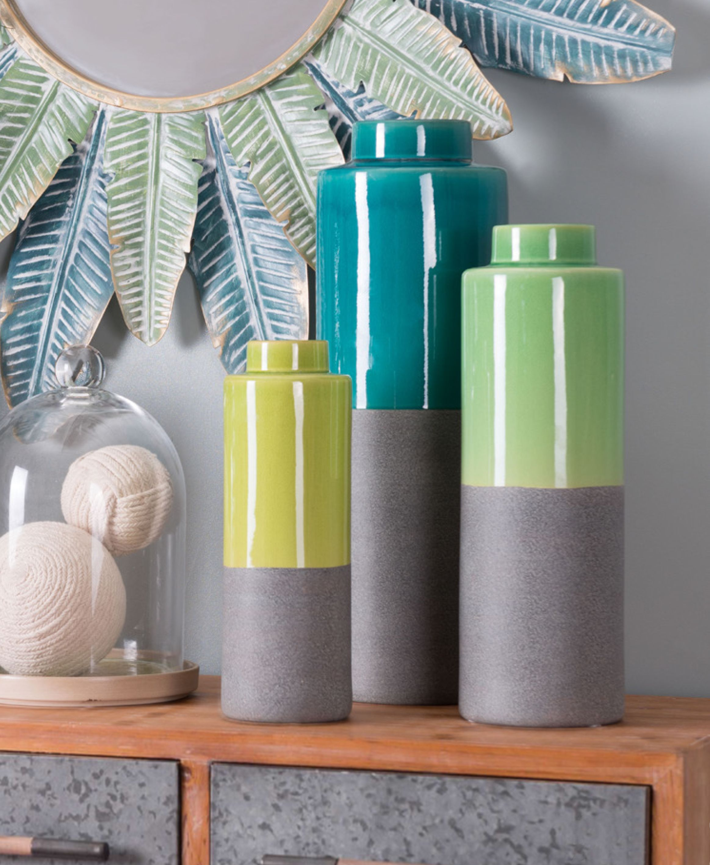 Celo Blue Large Vase Bottles Decoration Home Decor Sale Paint Dipping #teal #and #lime #green #living #room