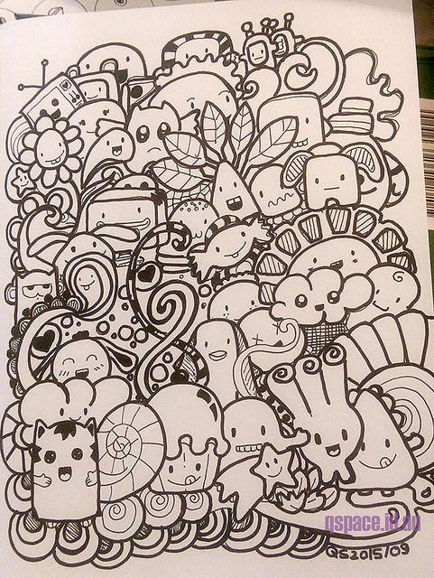 First Kawaii Doodle Kawaii Doodles Doodle Drawings