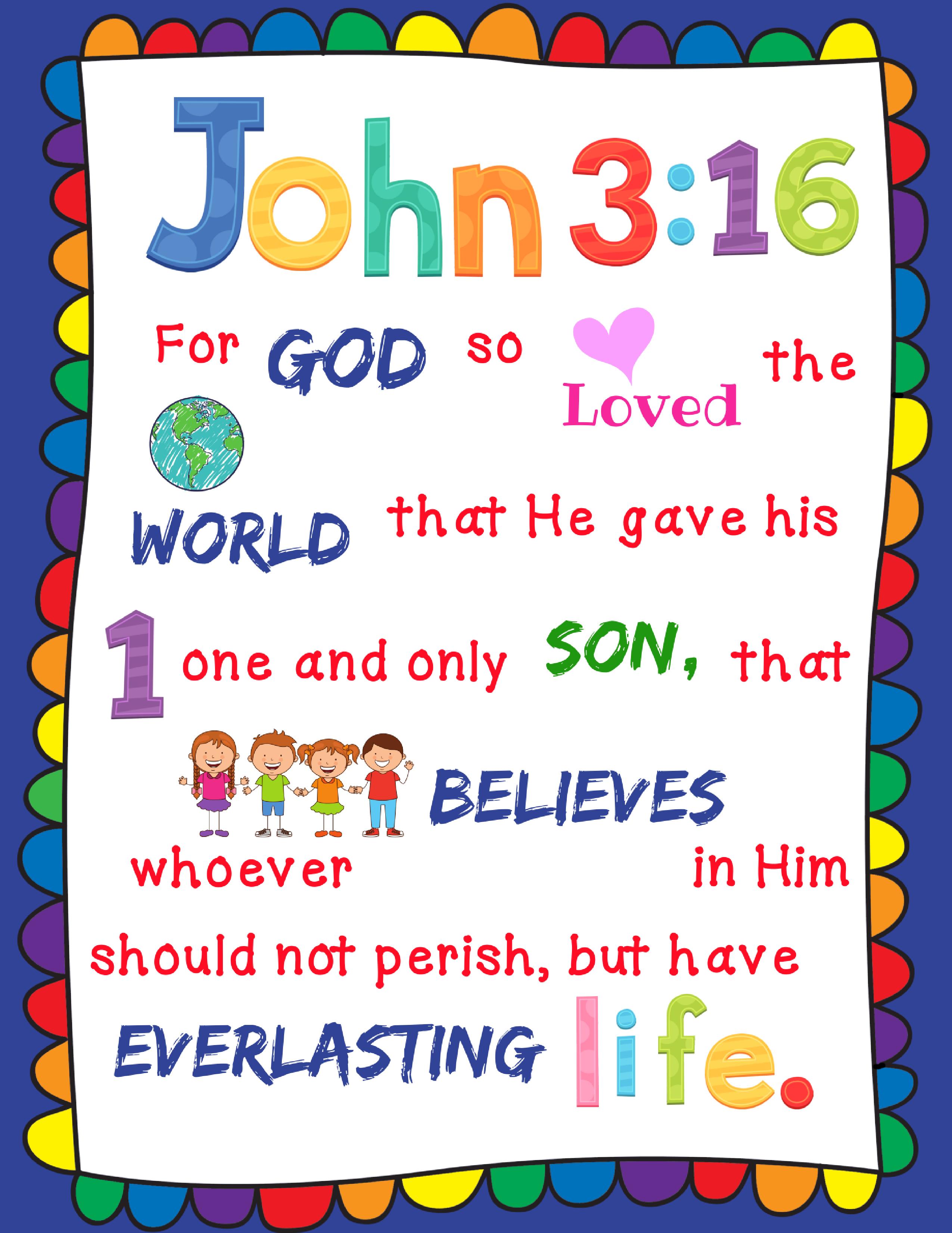 John 3 16 Poster S Andmateachesme Bible