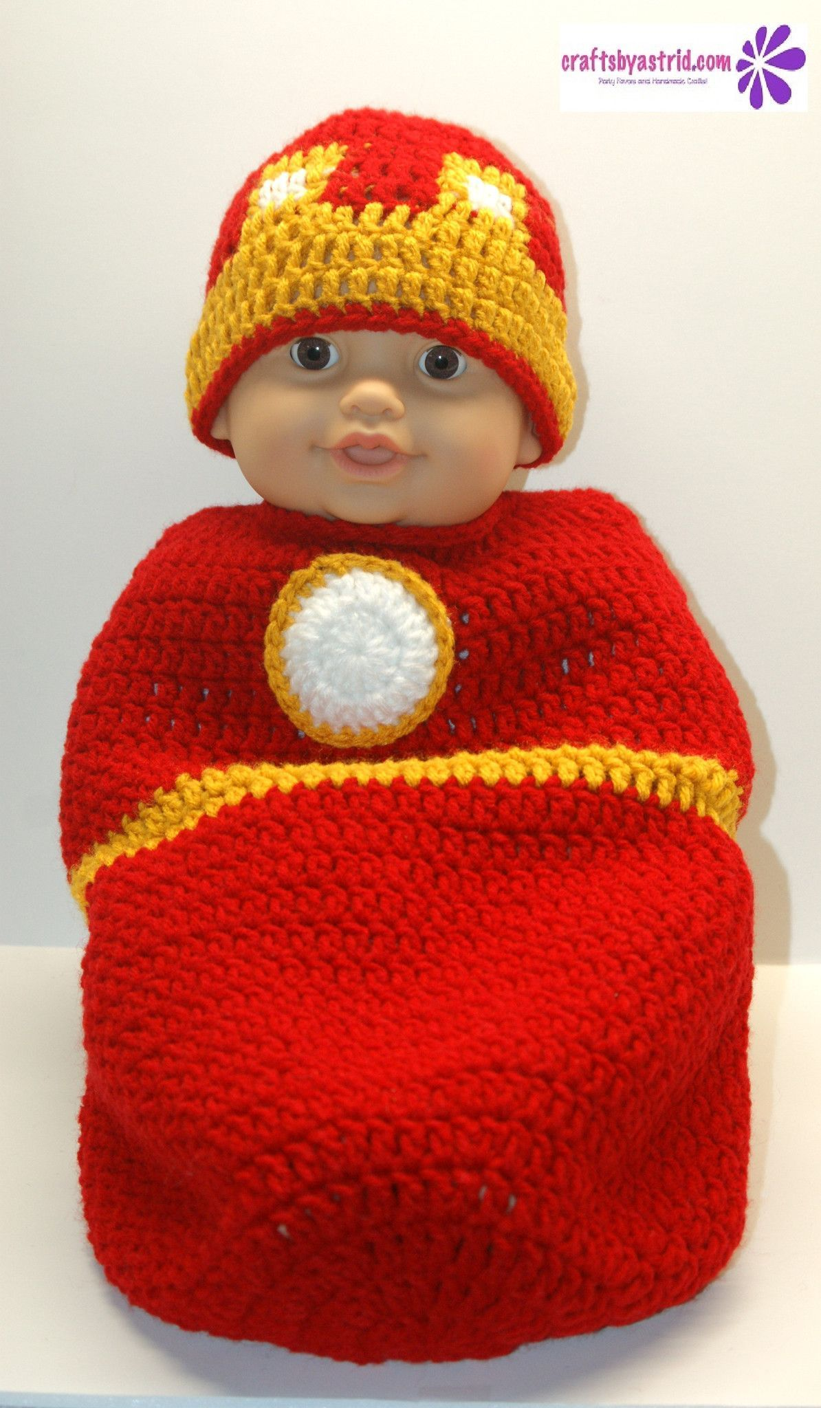 Newborn Handmade Crochet Baby Cocoon Measures 17\