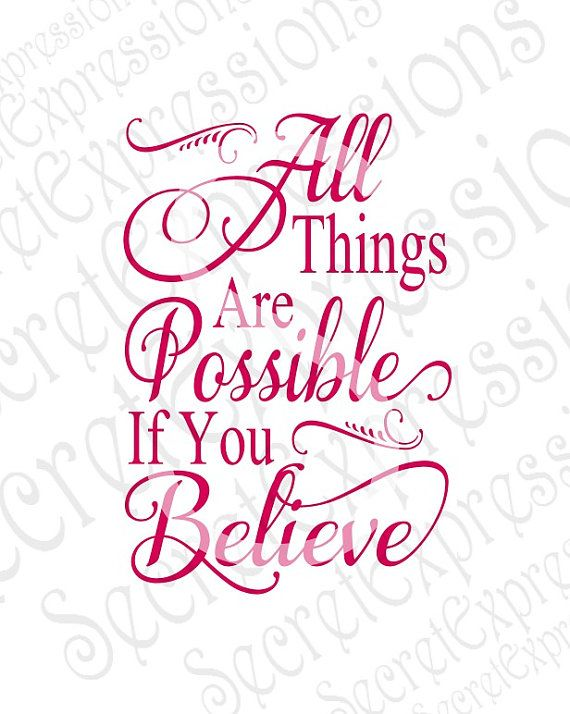 All Things Are Possible Svg Religious Bible Believe   Etsy