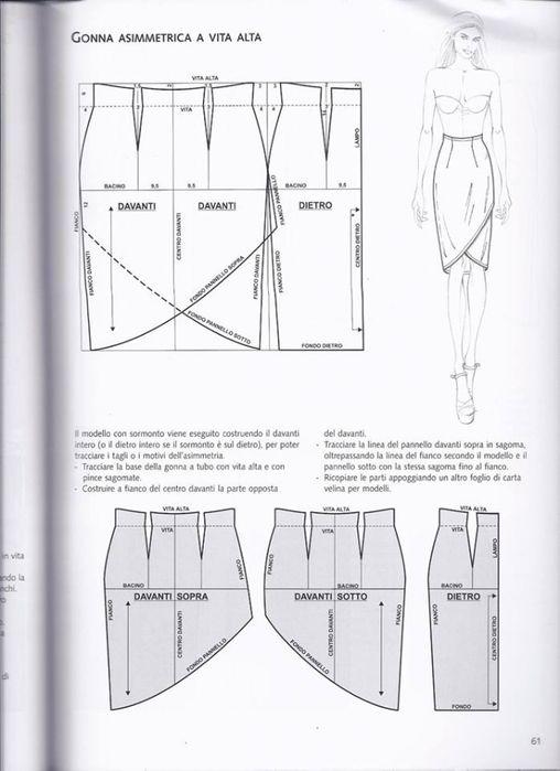 Pin de ana en faldas | Pinterest | Falda, Costura y Patrones