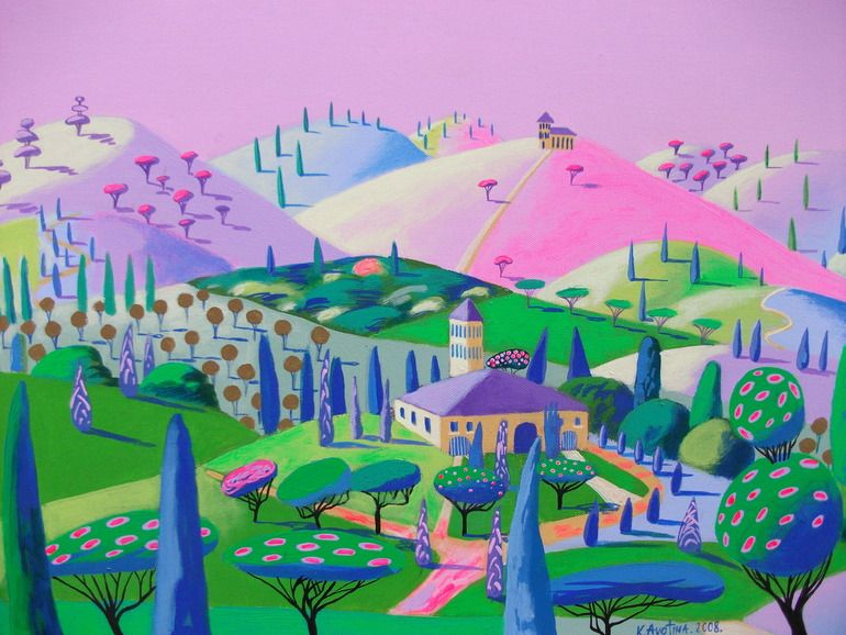 "Saatchi Online Artist: Katrina Avotina; Acrylic, 2008, Painting ""So Close To My Heart"""