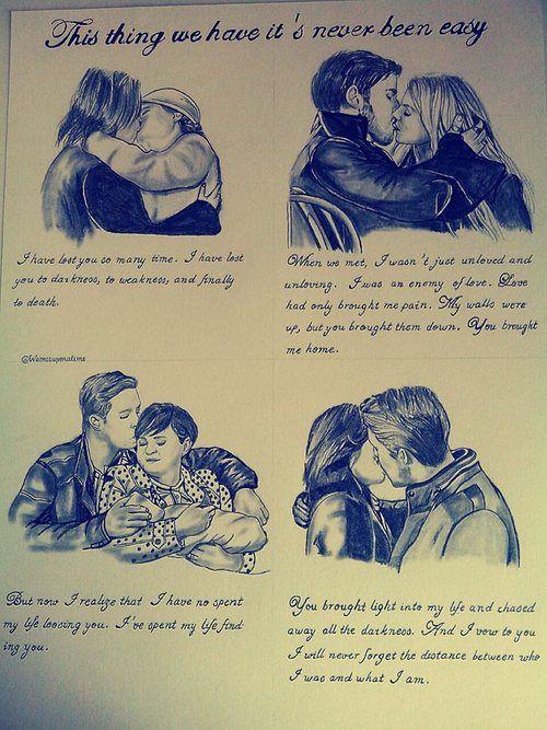 CaptainSwan, OutLawQueen, Snowing, Rumbelle.  Best couples ever.  https://twitter.com/Weonceuponatime https://www.facebook.com/PencildrawingLoanne