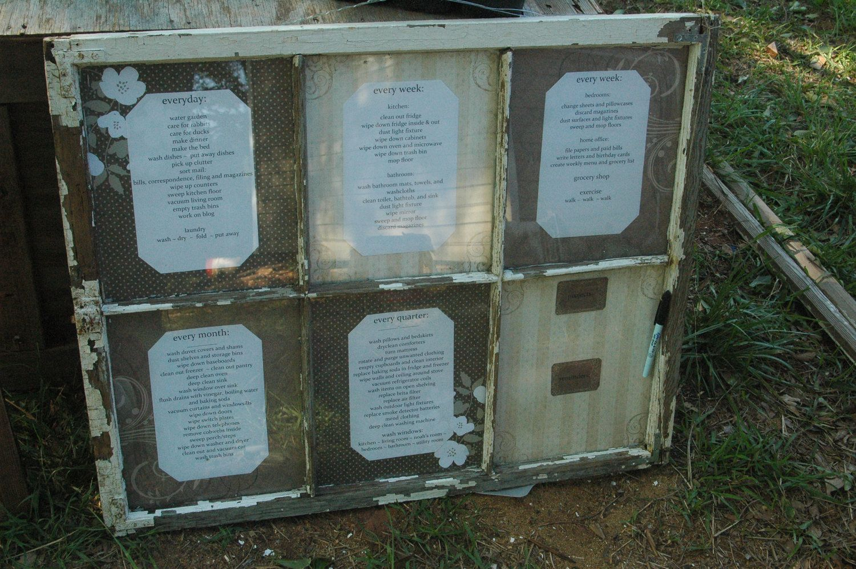 Old Barn Window Wipe Off Organizer. $300.00, via Etsy.