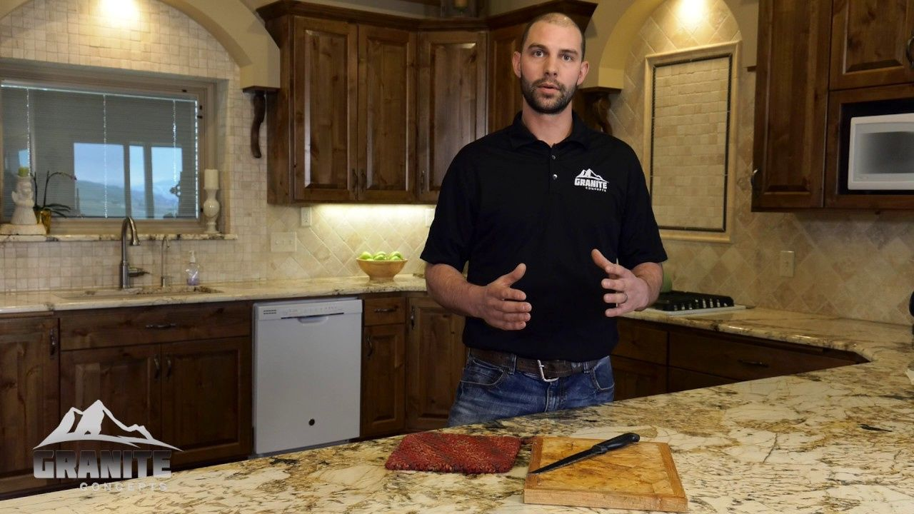 how to remove granite counter stain