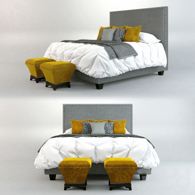 "Кровать Roy Bosh ""Камелот"" + пуф ""M-Style"""