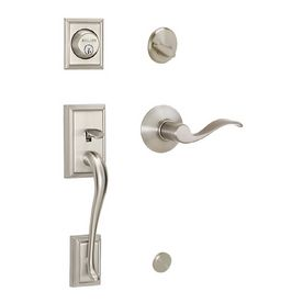 Lowes Front Door Schlage Addison Satin Nickel Residential Single