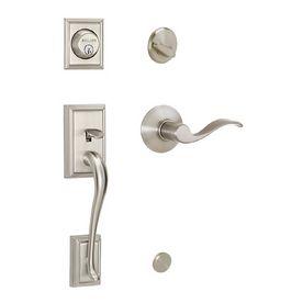 Beau $139 Front Door Schlage Addison Satin Nickel Residential Single Lock Door  Handleset