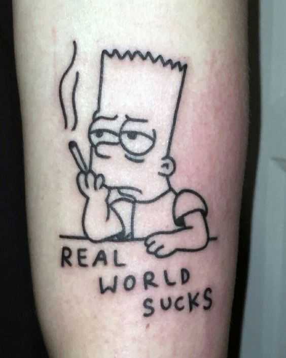 Best Cartoon Tattoo Design Check More At Http 13tattoo Vasepin Site Best Cartoon Tattoo Design Simpsons Tattoo Cartoon Tattoos Tattoo Designs