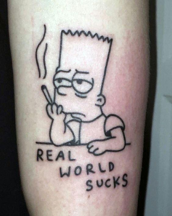 Best Cartoon Tattoo Design –  # Check more at 13tattoo.vasepin….