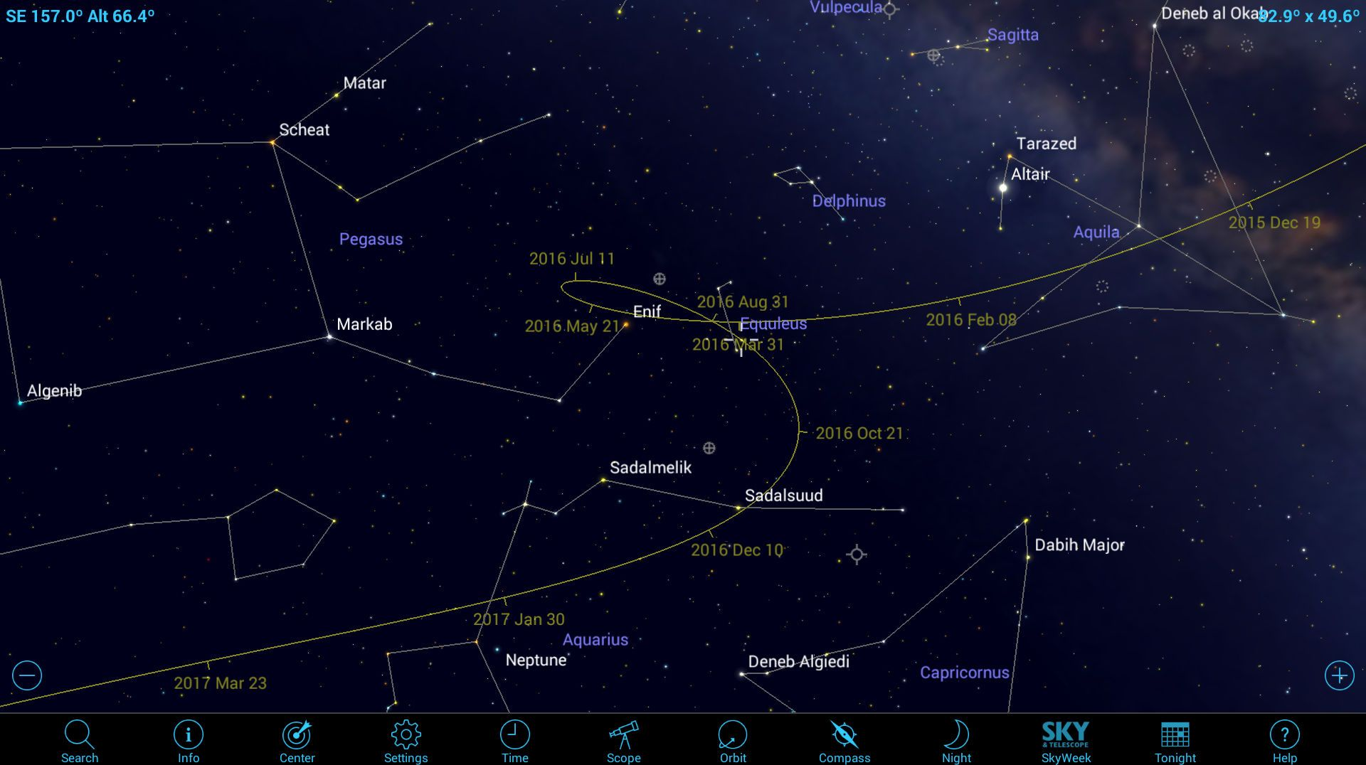 Here's how to track and spot asteroids using a mobile astronomy app.