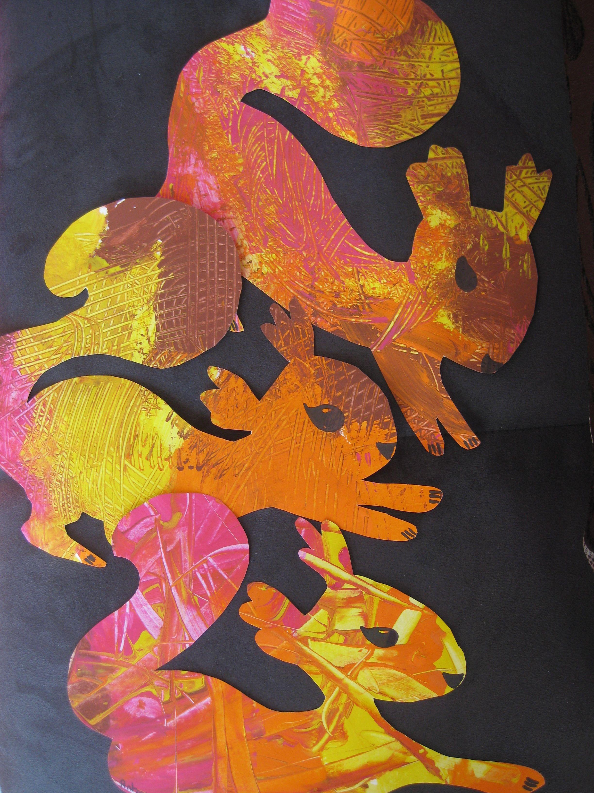Autumn new squirrels nouveaux cureuils for Peinture a la spatule