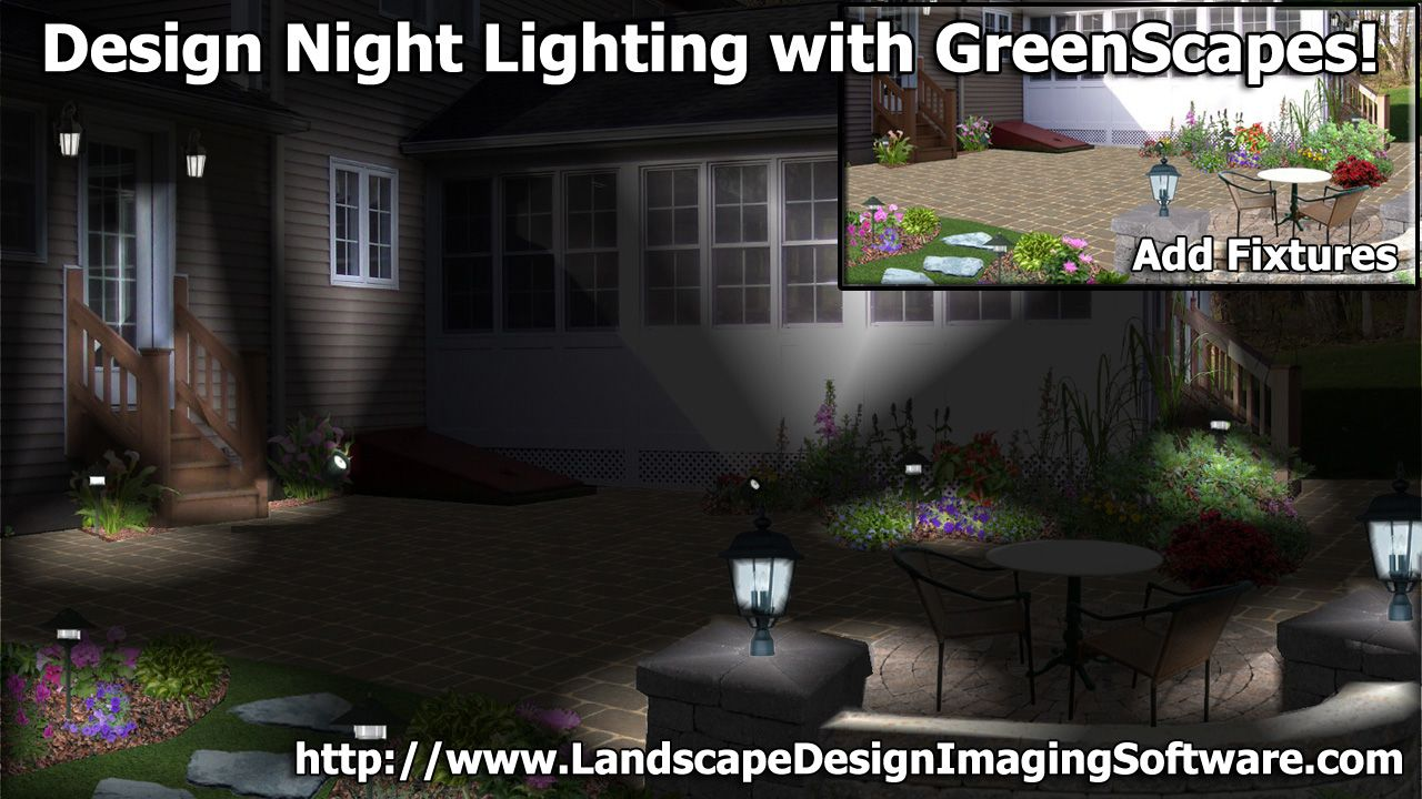 GreenScapes includes Night Lighting. Does your landscape ...