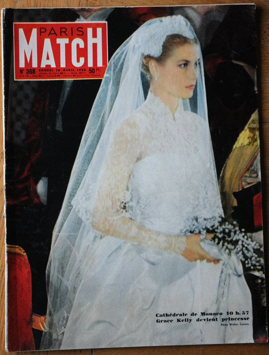 Rare Paris Match 1956 edition of Grace Kelly\'s wedding | Grace kelly ...