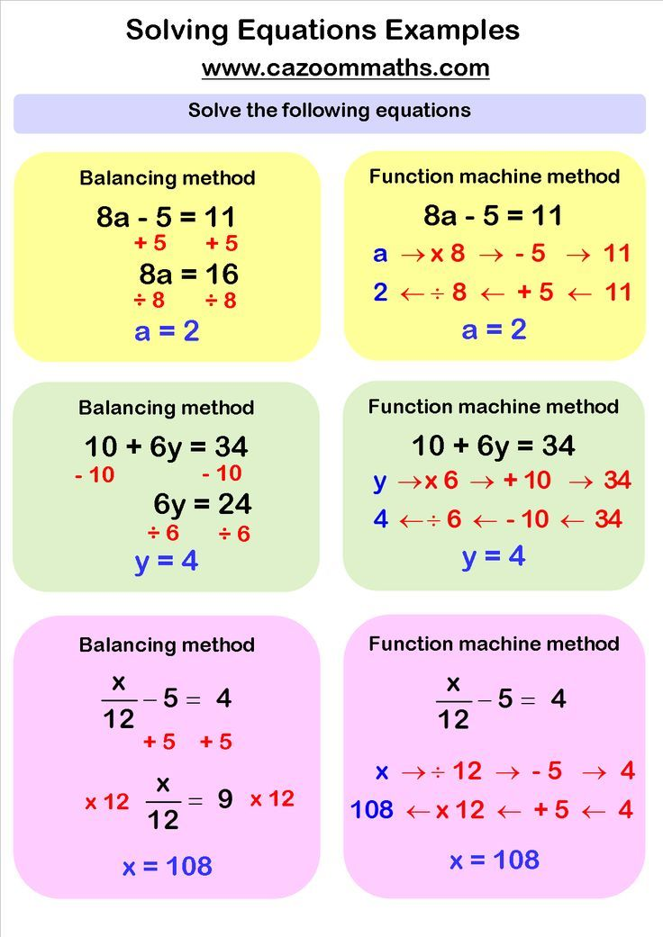 Solving Linear Equations Worksheets Pdf  Equation Math And