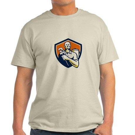 Plumber Monkey Wrench Shield Retro T-Shirt