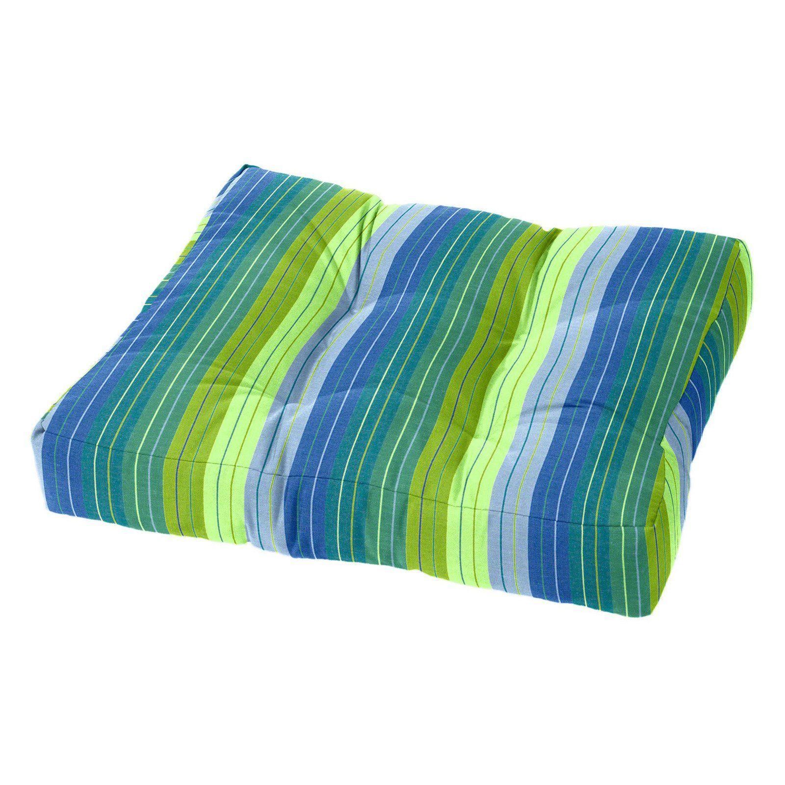 Cushion Source 21 X 17 In Striped Sunbrella Ottoman Cushion Seville