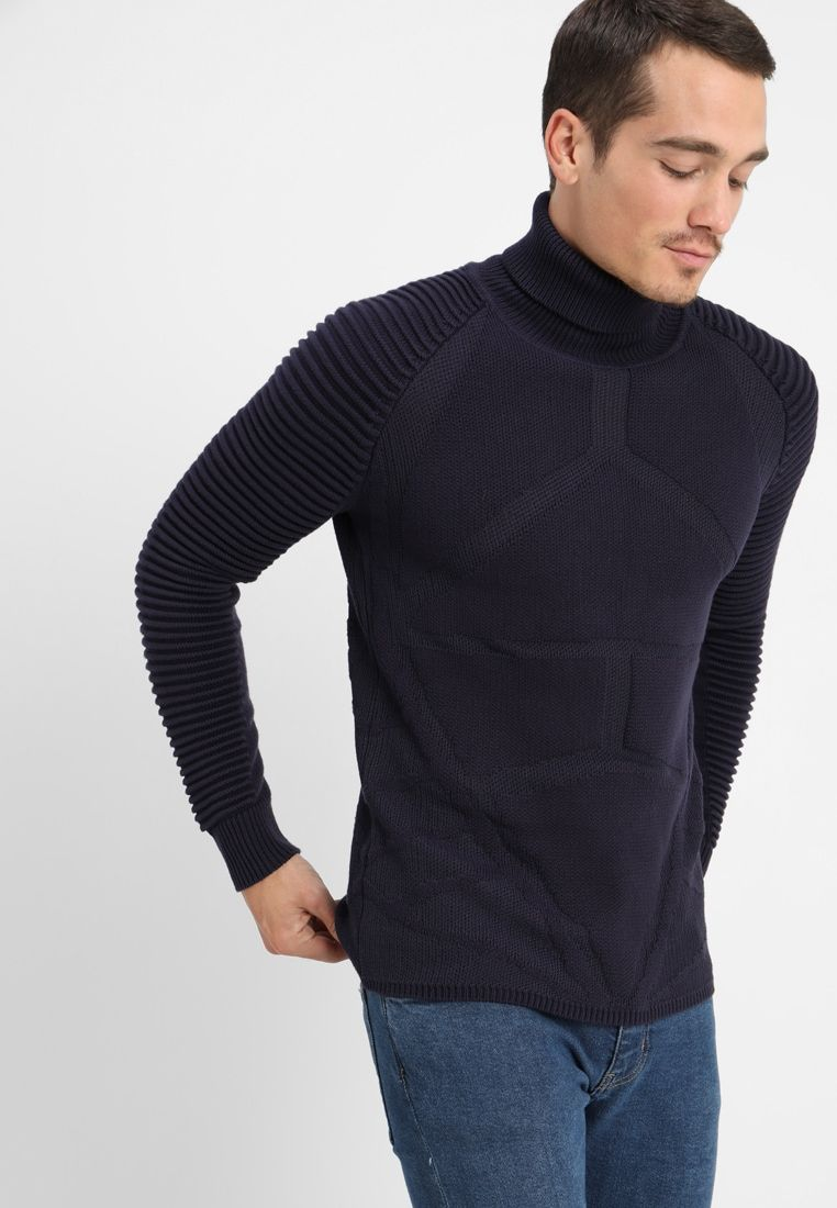 Pullover Männer Zalando Suzaki Pro Turtle Knit Jumper Saru Blue Zalando Co Uk