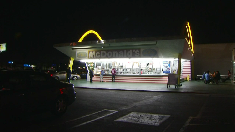 """In my hometown-Downey, CA. The world's oldest operating McDonald's known for its historic 1950s architecture, including an animated neon """"Speedee"""" mascot sign and iconic golden arches, will be getting a modern addition."""