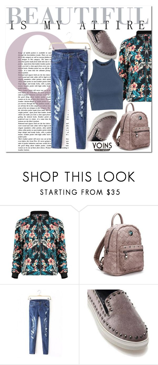 """Yoins Backpack~♥"" by av-anul ❤ liked on Polyvore featuring Topshop, vintage, yoins and avanul"