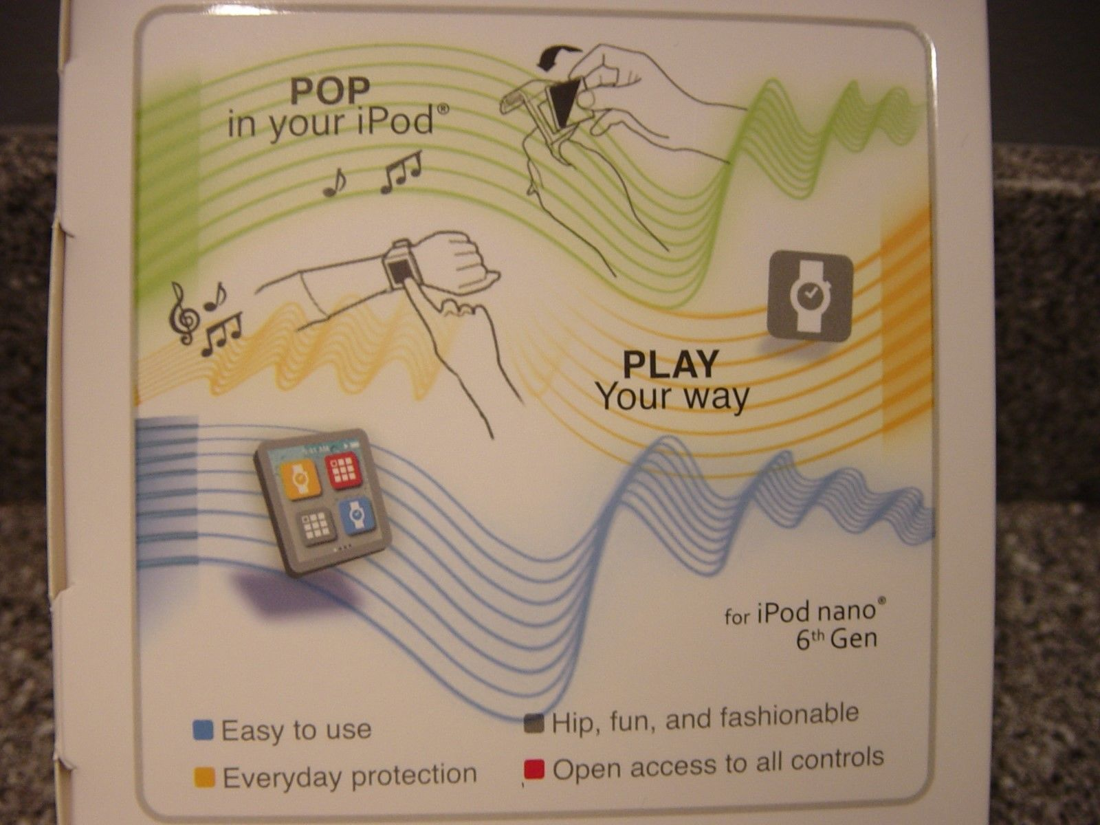 Icvrd Ipod Nano Watch Carrier For Ipod Nano 6th Generation Includesdigital Watch Ebay Ipod Nano Ipod Nano Watch Nano 6