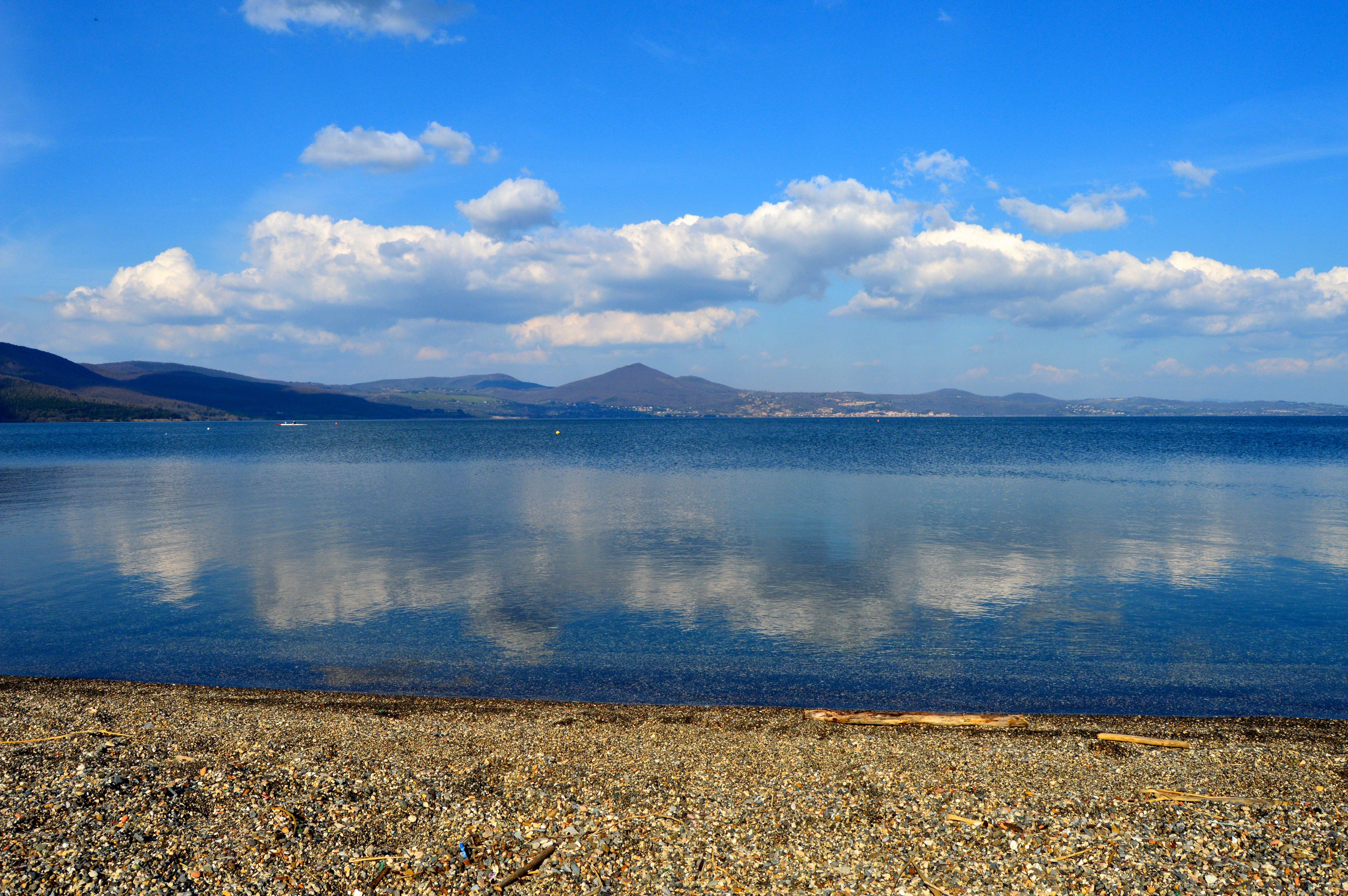 Lake Bracciano In Bracciano Italy Lake