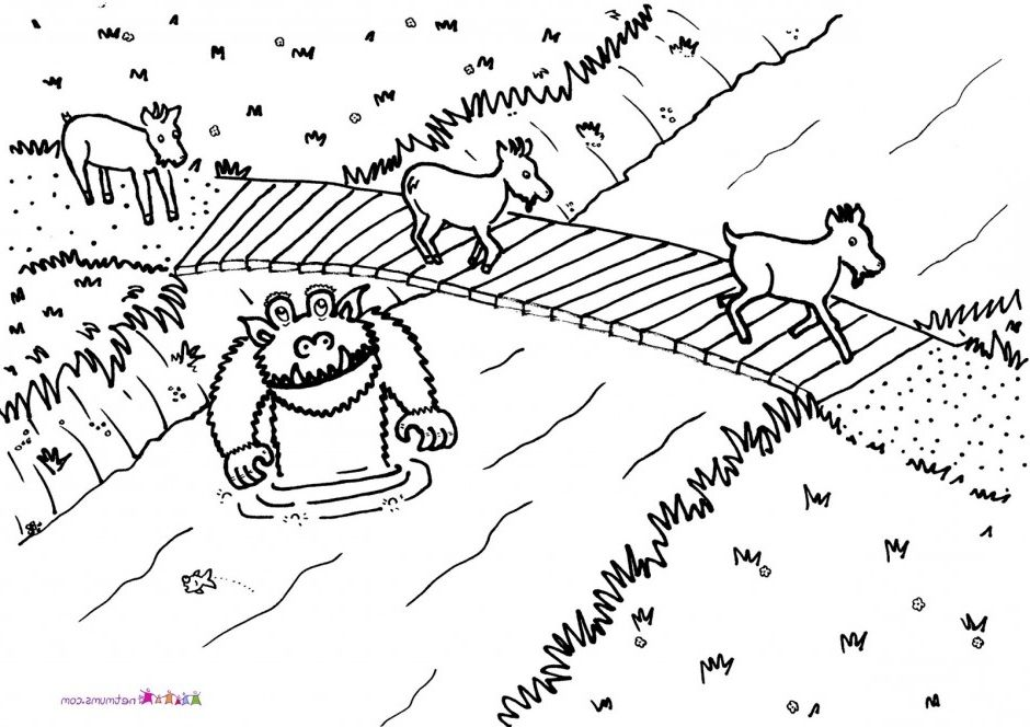 The Best Coloring Pages 3 Billy Goats Gruff Http Coloring
