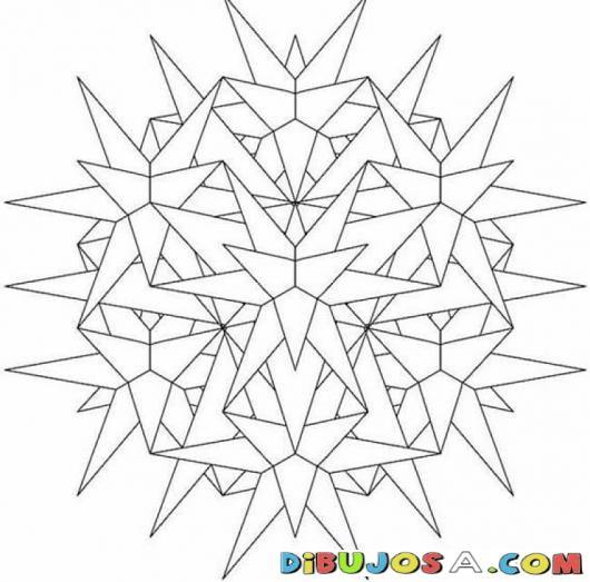Mandalas Para Colorear De Estrellas 3d | COLOREAR MANDALAS PARA ...