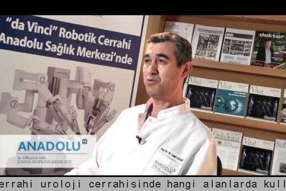 Robotik cerrahi üroloji cerrahisinde hangi alanlarda kullanılıyor?