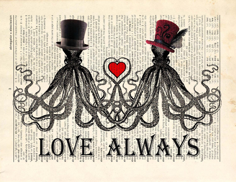 "Steampunk Wedding Gifts: ""Octopus Love"""
