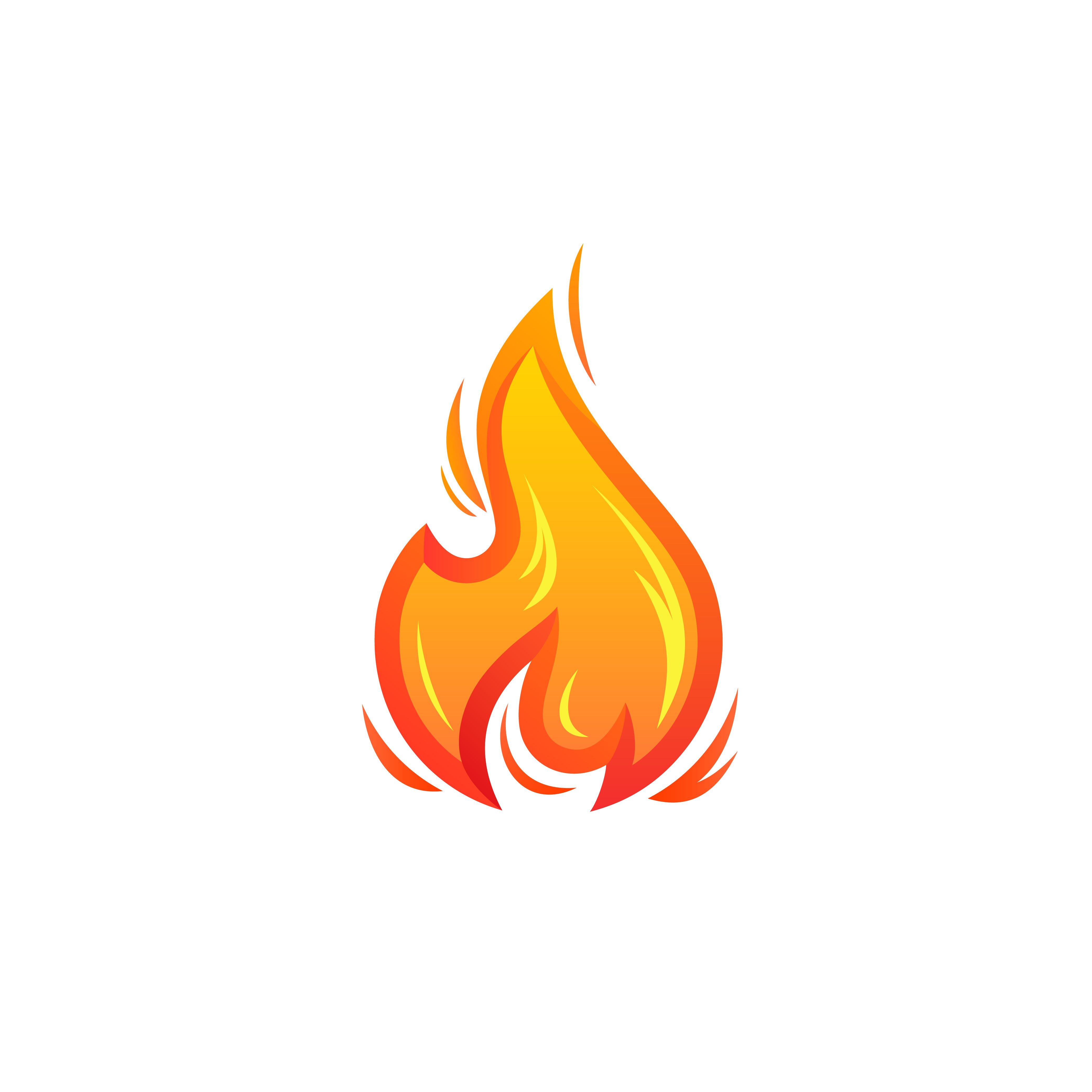 Fire Flame Abstract Vector Icon Fire Icons Logo Design Set Vector Icons