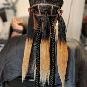 The process Tuck-In Method Xtra Jumbo Box Braids #longboxbraids