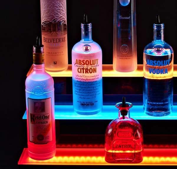 Illuminated LED Bar Shelves Bar Ideas Pinterest - k chenregal mit beleuchtung