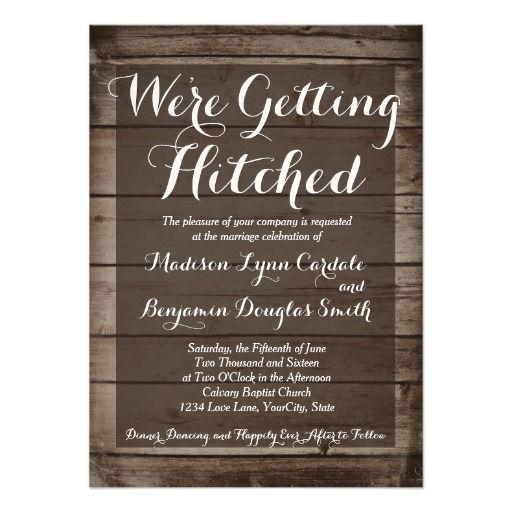 Hitched Wedding Invitations