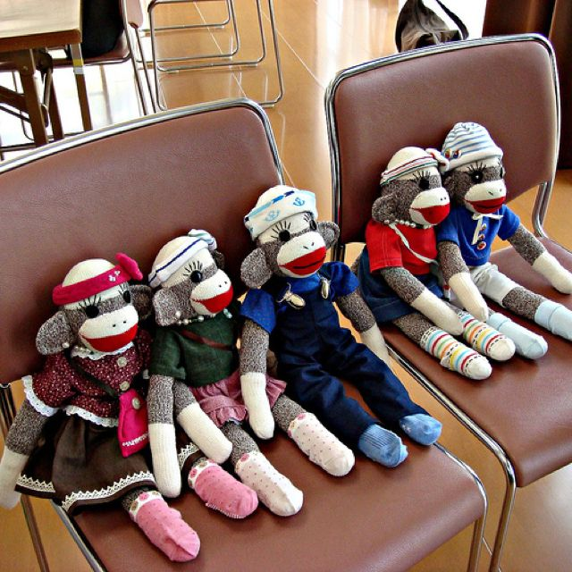 Sock monkeys!!!! I made one when I was 10.  It was special because it took a lot of work to create him! :)