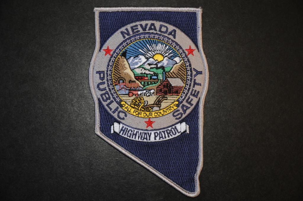 Nevada Highway Patrol Police patches, Patches, Nevada