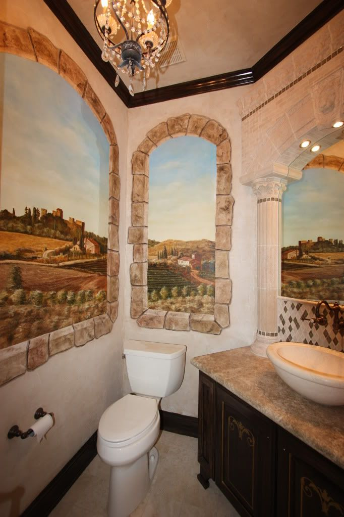Tuscany Bathrooms  Decorating Diva Tips Top 10 Bathroom Themes Extraordinary Tuscan Bathroom Design Inspiration Design