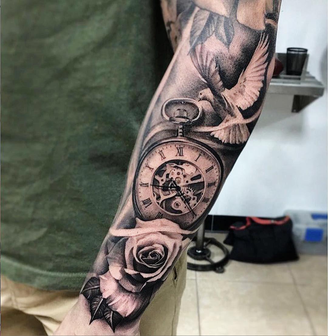 Clock Tattoos 21 Forearm Tattoo Men Forearm Tattoos Clock Tattoo
