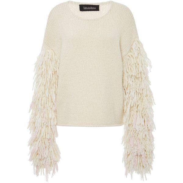 e2ebd893fe2 Tabula Rasa Karash Fringe Sleeve Sweater found on Polyvore featuring ...