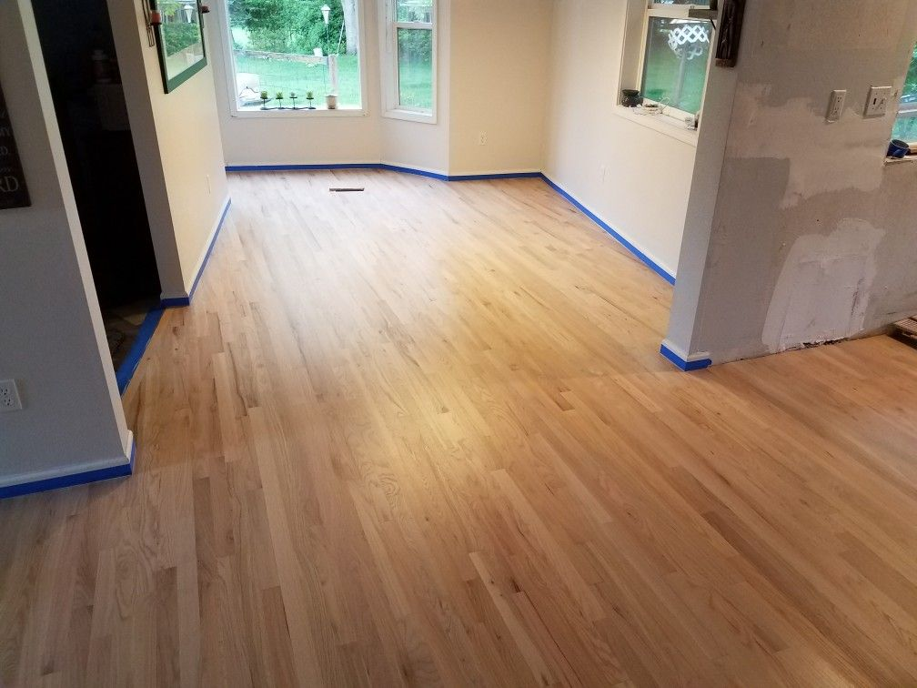 2 1 4 Red Oak Hardwood Floor Installed Sanded Sealer Finished By Mid Valley Hardwood Llc Battle Hardwood Floors Red Oak Hardwood Floors Red Oak Hardwood