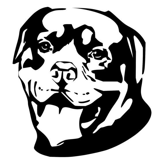 For your consideration is a die-cut vinyl Rottweiler decal available ...