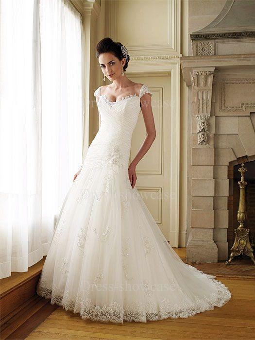 best wedding dress for hourglass figure | Fashion Trumpet Satin ...
