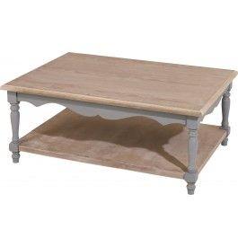 Table Basse Rectangulaire Double Plateau Bois Exotique Gris Patine Pieds Tournes Table Basse Rectangulaire Table Basse Et Plateau Bois