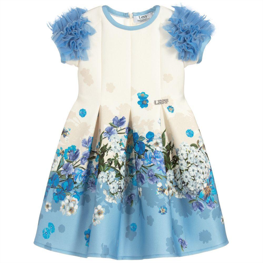 Blue floral neoprene dress pinterest floral
