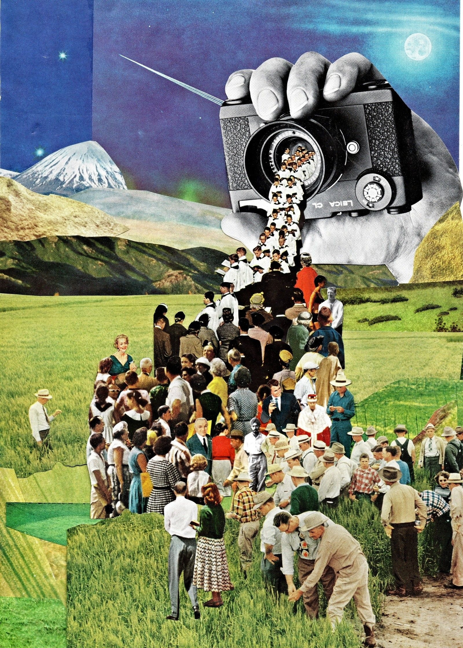 Retro-Futuristic Magazine Collage Art by Ben Giles | Fine Art ...