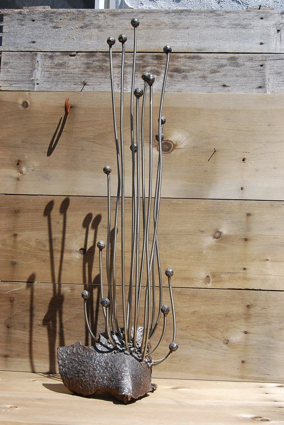 Metal Sculpture Of A Fungus An Botanical Inspired By I Saw Growing In Greenhouse Its Base Is Hunk Thick